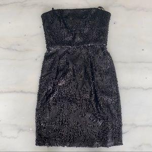 BCBGMaxAzria Sequin Black Dress - Size 0